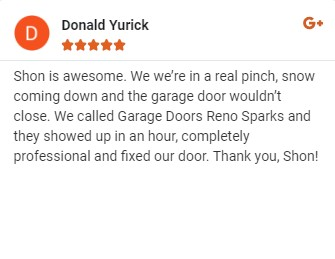 google riview garage door Reno