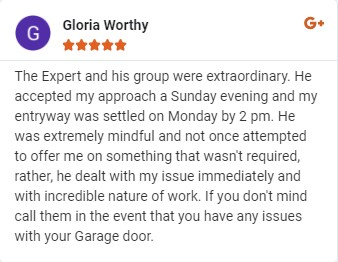 extraordinary service by garage door