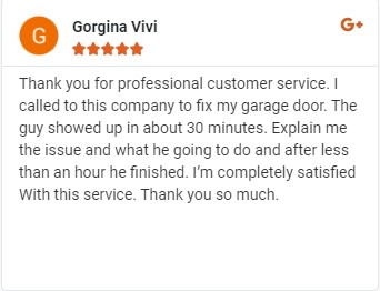 proffesional coustomer service garage door
